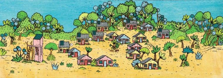 décor village + forêt BD