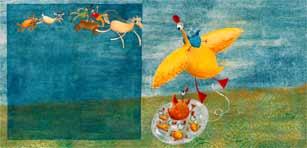 le-canard-et-sa-caille
